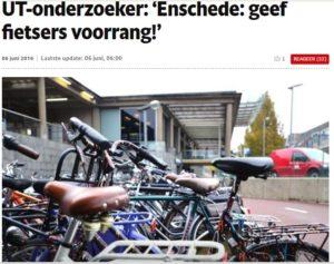 News Tubantia Enschede Fietsers