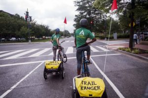 WAPO. Two-wheeled ambassadors in the bikeable city. Photo: Washington Post